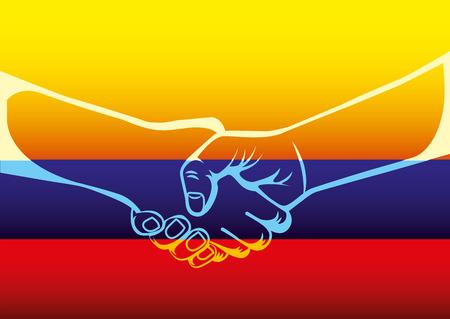 accord de paix colombienne conception symbole vecteur illustration Vecteurs