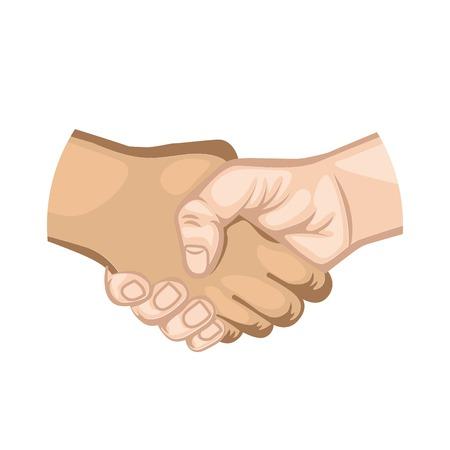 Hand schudden symbool pictogram vector illustratie ontwerp