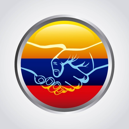 colombian: Colombian peace agreement symbol vector illustration design