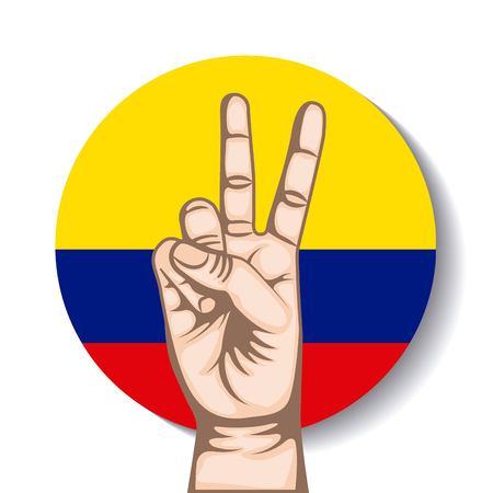simbolo della pace: mani di pace in Colombia simbolo disegno vettoriale illustrazione