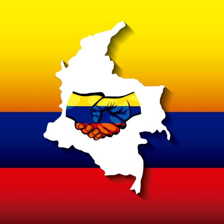 Colombiaanse vredesakkoord symbool vectorillustratieontwerp