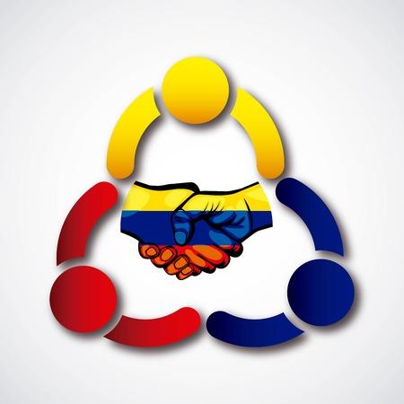 Colombian peace agreement symbol vector illustration design