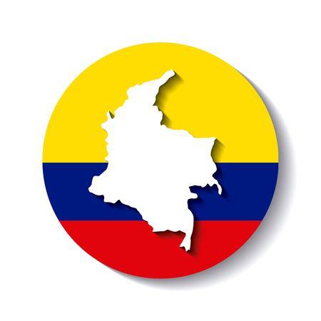 drapeau colombian icône coloré illustration vectorielle conception