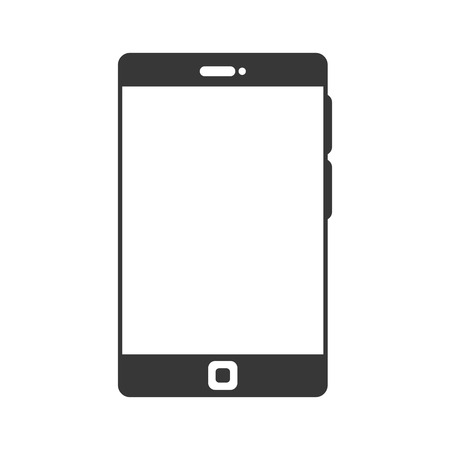 mobile device: smartphone portable mobile phone. technology and electronic device. vector illustration Illustration