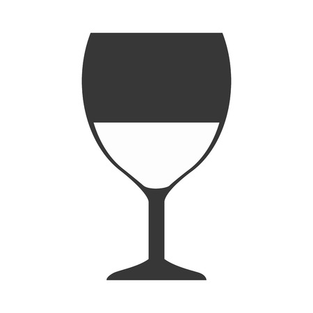 cabernet: glass of  wine alcohol drink  beverage. silhouette vector illustration