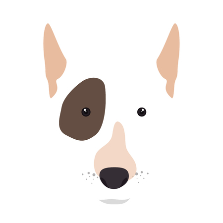 canine: bull terrier breed dog canine pet animal. puppy cartoon. vector illustration