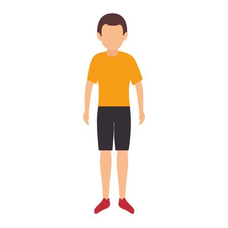 summer clothes: avatar man wearing summer clothes cartoon. vector illustration