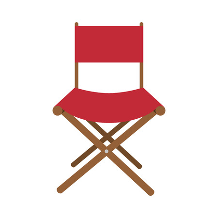 wooden chair: film director Wooden chair. cinema movie icon . vector illustration