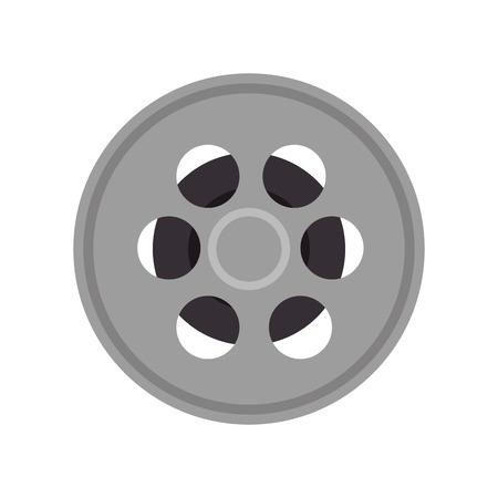 movie video film reel tape. retro cinema object. vector illustration
