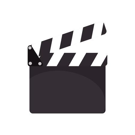 clapboard: cinema action clapboard. filmmaking and cinematography device. vector illustration Illustration