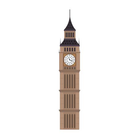 象徴的なビッグベン ロンドンの街。イギリスのシンボル。ベクトル図