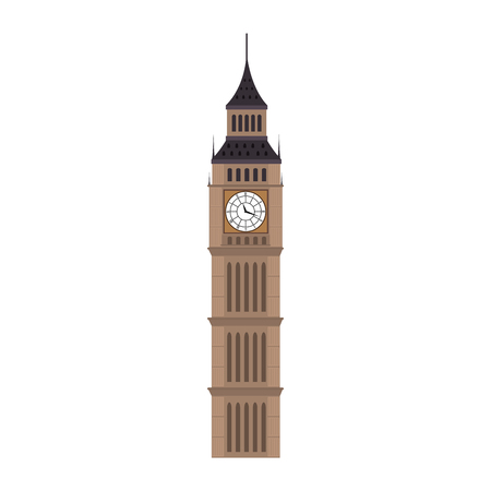 iconic big ben london city building. british symbol. vector illustration