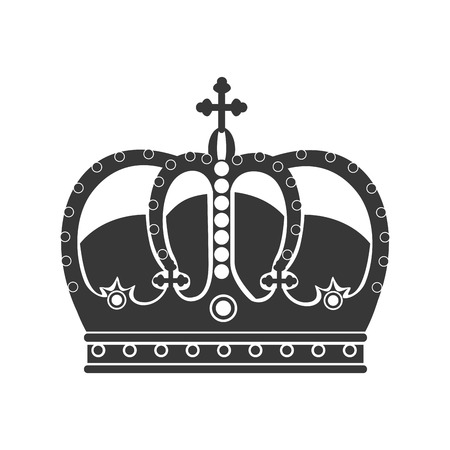 aristocracy: royal king crown over white background, vector illustration EPS10 Illustration