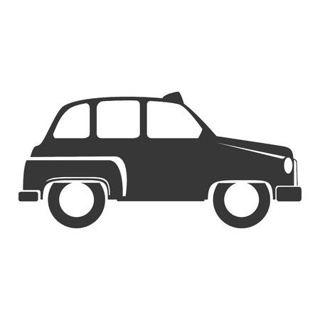 british touring car: british cab classic taxi car. london symbol