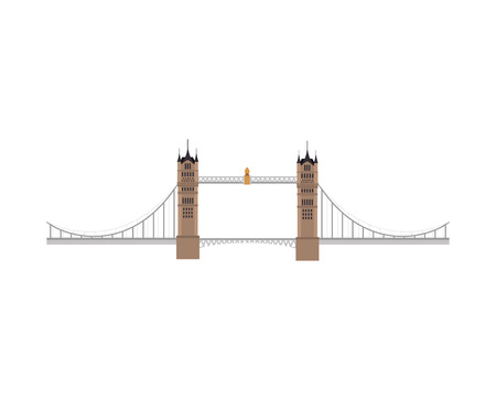 london tower bridge: london tower bridge building. british iconic symbol. vector illustration