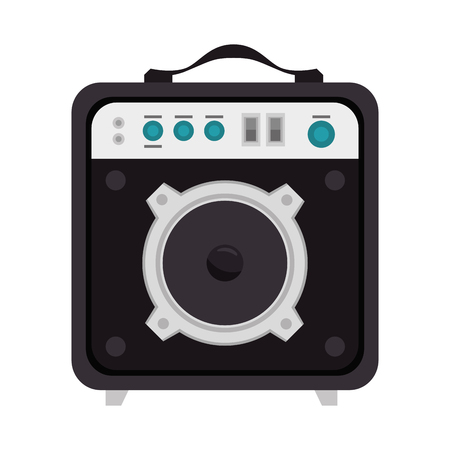 portable audio: speaker sound bass portable. music audio device. vector illustration