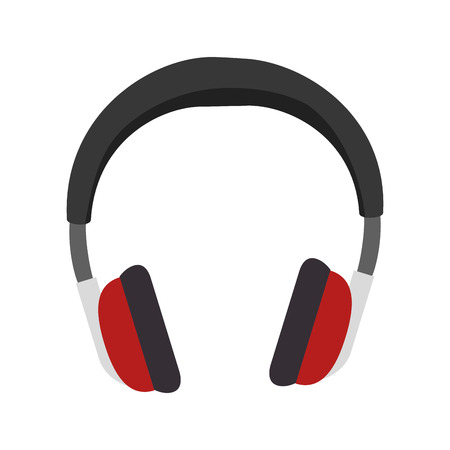 portable audio: head audio portable headphone. sound gadget equipment. vector illustration