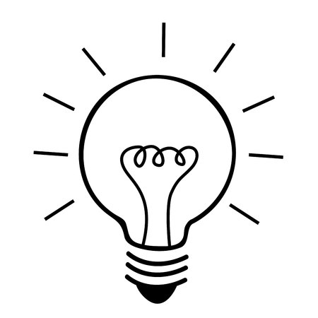 bulb light energy icon vector isolated graphic