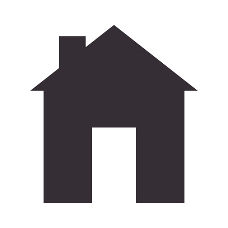 residential home: house home real estate residential property silhouette vector illustration