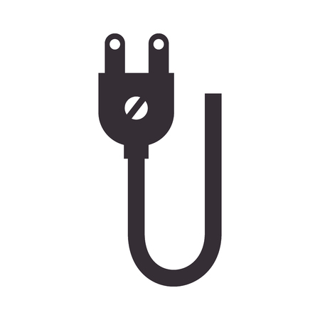 plug adapter: electric plug adapter cable. power energy connection. vector illustration