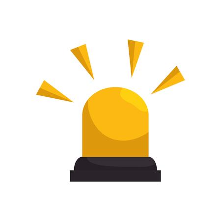 yellow light emergency alarm siren. urgency alert equipment. vector illustration