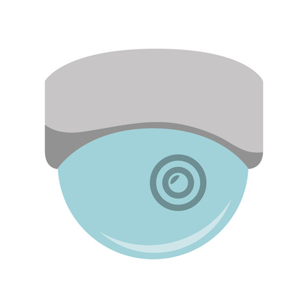 detected: camera security system protection and technology device. vector illustration Stock Photo