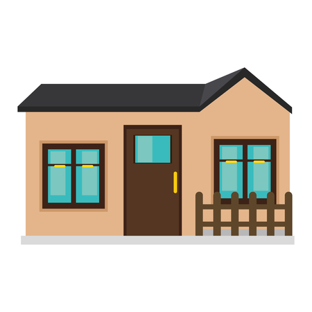 luxury home exterior: modern house real estate building property. exterior front view. vector illustration Illustration
