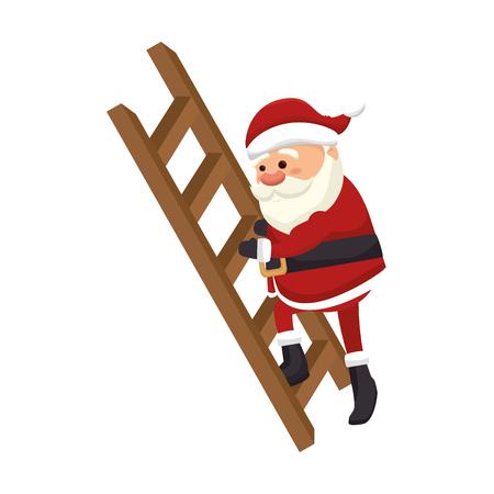 santa claus man. merry christmas season symbol. vector illustration