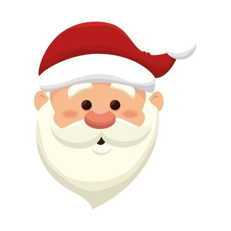 saint nick: santa claus man. merry christmas season symbol. vector illustration