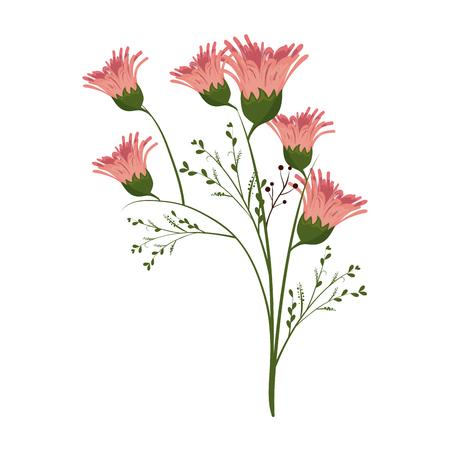 fleurs florales naturelles et belles fleurs. saison de printemps. illustration vectorielle Vecteurs