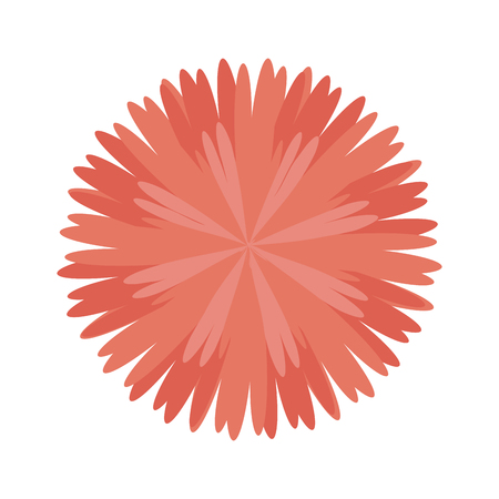 nature beauty: pink floral blossom. nature beauty flower. vector illustration