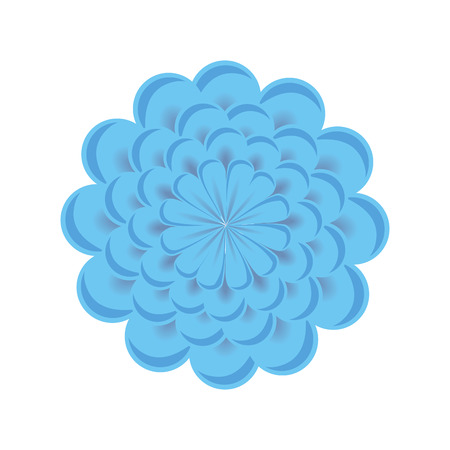 nature beauty: blue floral blossom. nature beauty flower. vector illustration