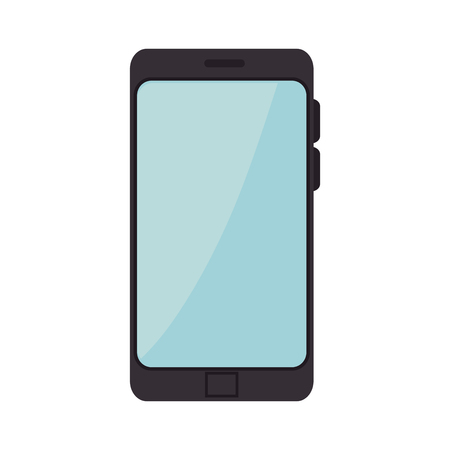 mobile device: smartphone mobile phone. communication and technology device. vector illustration Illustration