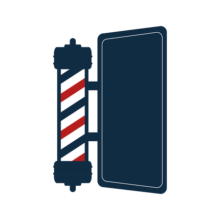 shaver: red and blue striped classic barber shop pole. vector illustration