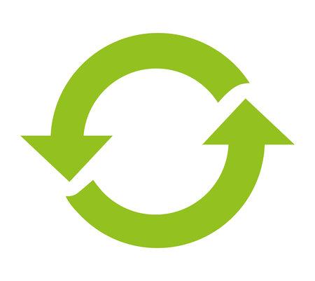 recycle pijlen hergebruik symbool vector illustratie ontwerp Stock Illustratie