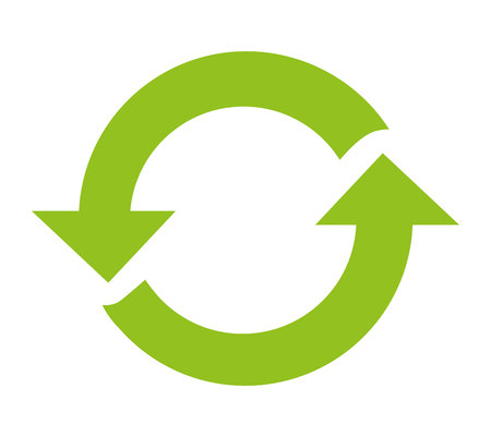 recycle arrows reuse symbol vector illustration design Illustration