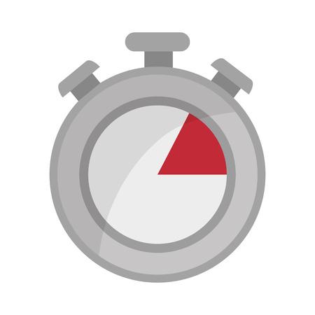training device: chronometer time counter clock device sport training vector illustration