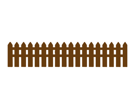 wooden fence sign isolated vector illustration design