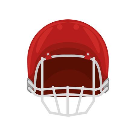 casco rojo: red helmet american football. head protection equipment. vector illustration Vectores