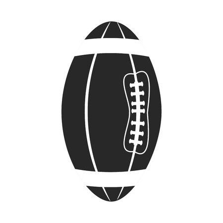 game equipment: sport oval ball american football. game equipment. vector illustration