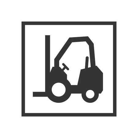 service lift: lift truck sign. lifting and cargo service. vector illustration Illustration