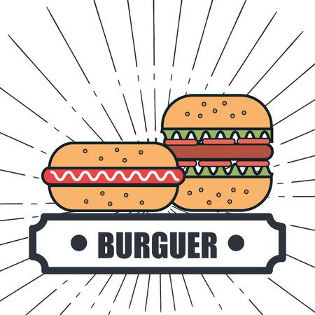 sandwish: fast food restaurant menu isolated icon vector illustration design