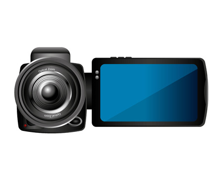 film shooting: camera lens video icon vector illustration design