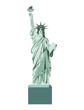 statue liberty: statue liberty monument isolated vector illustration design