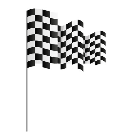 accomplishments: finish flag goal race vector illustration design