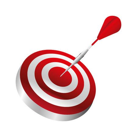 target arrow success icon vector illustration design Ilustrace