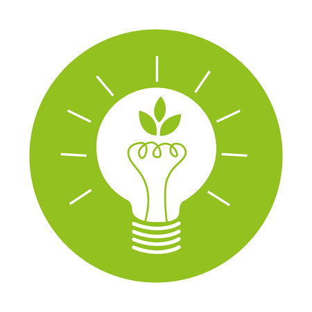 bulb light eco energy icon vector isolated graphic