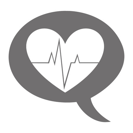 pulsating: heart cardio pulse isolated icon vector illustration design