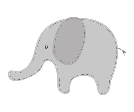 tender: elephant cute tender icon vector illustration design Illustration