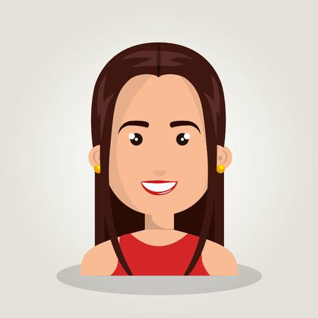 cartoon woman female isolated vector illustration